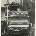 Dave working on a F5000 engine, circa 1970