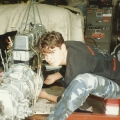 Julian at 17 working on a Mercedes engine